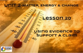 NGSS/STEM Lesson 20 Using Evidence To Support A Claim