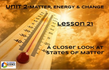 NGSS/STEM Lesson 21 A Closer Look At States of Matter