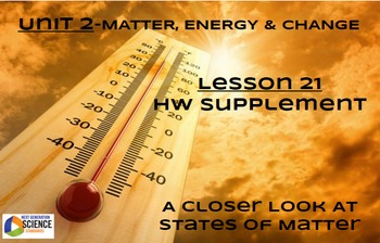 NGSS/STEM Lesson 21 HW Supplement--A Closer Look At States of Matter