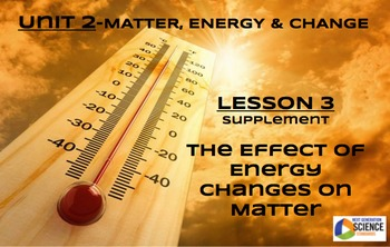 NGSS/STEM Lesson 3 Supplement--The Effects of Energy Change on Matter