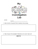 NGSS STEM Science Investigation Log