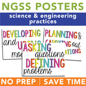 NGSS Science & Engineering Practices Posters - Print & Go Science Bulletin Board