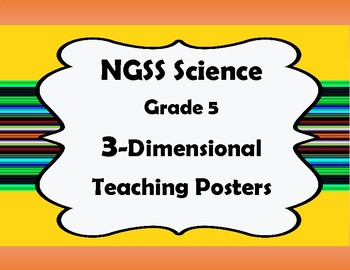NGSS Science, Grade 5, 3-Dimensional Teaching Posters