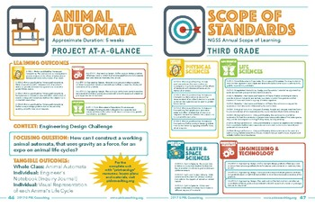 NGSS Science Unit - Project-at-a-Glance - Animal Automata