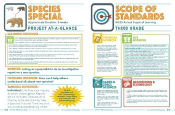NGSS Science Unit - Project-at-a-Glance - Species Special