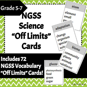 """NGSS Science Vocabulary """"Off Limits"""" Game"""