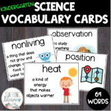 Inspire Science and NGSS Kindergarten Vocabulary Word Wall