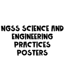 NGSS Science and Engineering Practice Posters Black and White