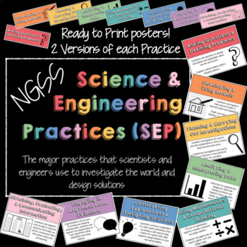 NGSS Science and Engineering Practices SEP Posters