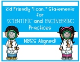 """NGSS Science and Engineering Practices kid friendly """"I can"""" statements"""