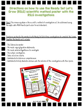 NGSS Scientific Investigations and K-PS2-1 Push and Pull Investigation Bundle