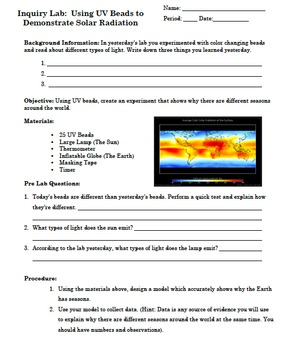 NGSS Seasons Unit: Earth's Place in Our Universe Middle School Science