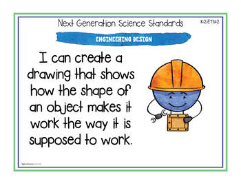 """NGSS """"I Can"""" Posters & Statement Cards Second Grade Science Standards"""