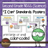 "Second Grade NGSS ""I Can"" Science Standards Posters"