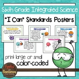 "NGSS Sixth Grade (INTEGRATED) Standards ""I Can"" Posters &"