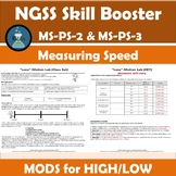 NGSS Skill Booster and 5e Extension: Measuring Speed Lab Activity