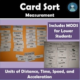 NGSS Skill Booster for MS-PS-2: Units for Measuring Speed