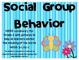 NGSS Social and Group Behavior vocabulary cards