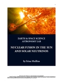 NGSS Space Science Astronomy Lesson Plan #61 Nuclear Fusion in the Sun - Lab