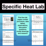 NGSS Specific Heat Lab (Model and CER) HS PS3-4