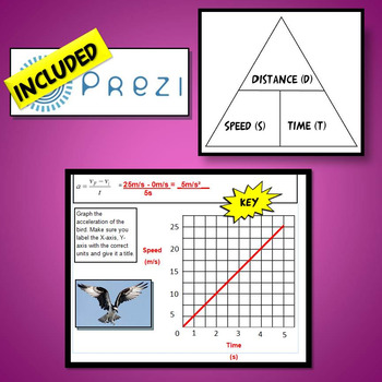 NGSS Speed, Time, Distance, Acceleration and Graphing Worksheets