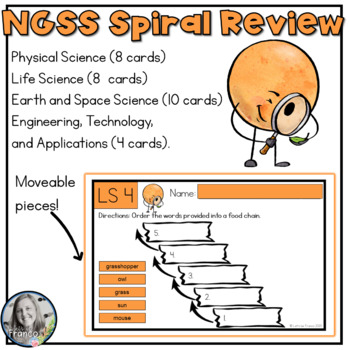 NGSS Spiral Review, Task Cards, or Exit Slips