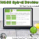 NGSS Spiral Review Task Cards or Exit Slips - Now Digital