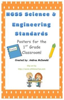 Next Generation Science and Engineering Standards Posters NGSS 1st Grade 11x17