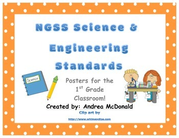 Next Generation Science and Engineering Standards Posters NGSS 1st Grade 8.5x11