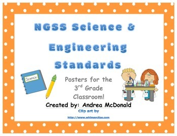 Next Generation Science and Engineering Standards Posters NGSS 3rd Grade 8.5x11