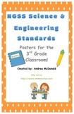 Next Generation Science and Engineering Standards Posters NGSS 3rd Grade 11x17