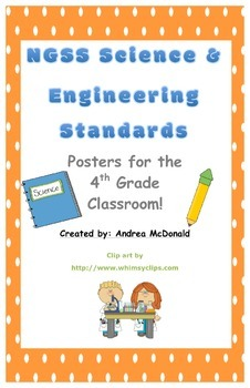 Next Generation Science and Engineering Standards Posters NGSS 4th Grade 11x17