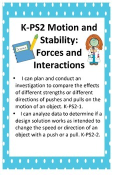 NGSS Science and Engineering Standards Posters Kindergarten - 11 x 17
