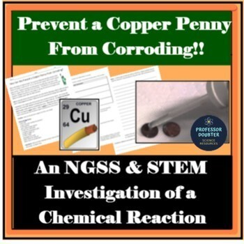 Chemical Change Lab NGSS Middle School Experiment  MS-PS1-2 MS-ETS1-1