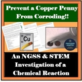 Chemical Change STEM Lab NGSS Middle School Experiment MS-PS1-2 MS-ETS1-1