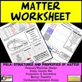NGSS Structure & Properties of Matter Study Guide Worksheet Graphic Organizer