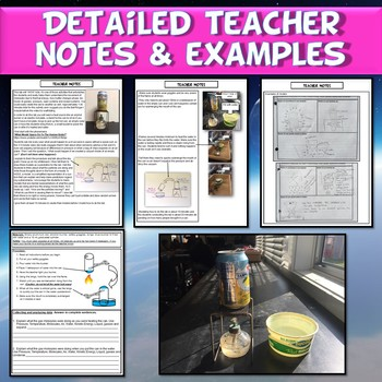 NGSS Structure & Properties of Matter Vacuum in a Can Lab Modeling & Warm Up