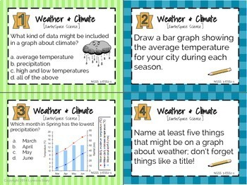 ngss science task cards weather climate 24 cards 3rd grade tpt. Black Bedroom Furniture Sets. Home Design Ideas