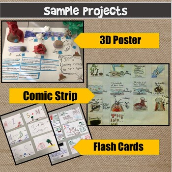 NGSS Middle School The Rock Cycle Choice Projects with Rubric MS-ESS2-1