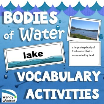 NGSS The Roles of Water, Ice and Liquid, on Earth's Surface Vocabulary