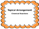 NGSS Topical Arrangement Signs - Chemical Reactions (Middle School)