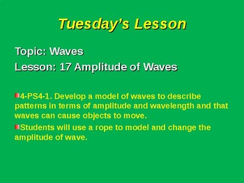 NGSS Unit 4 Sound Waves