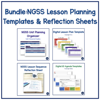 NGSS Unit Planner + Digital Weekly Lesson Plan Template