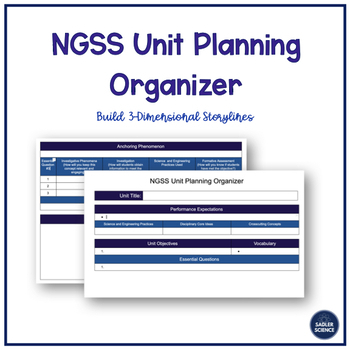 NGSS Unit Planning Organizer (Google Doc)