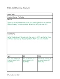 NGSS Unit and Lesson Planning Template