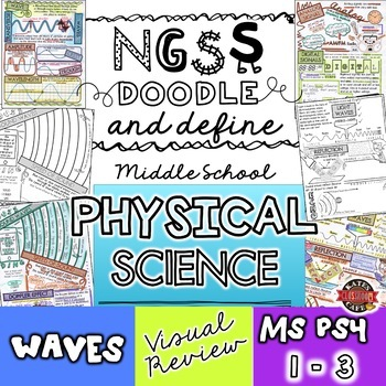 NGSS Waves Doodle Notes for Middle School (Physical Science MS-PS4)