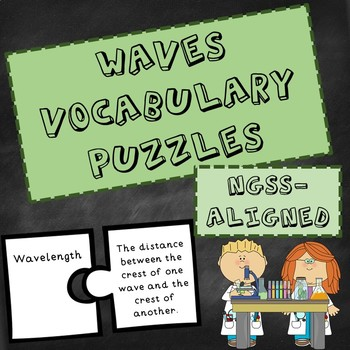 NGSS Waves Vocabulary Puzzle