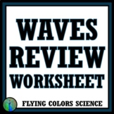 NGSS Waves Worksheet Review - Middle School NGSS MS-PS4-1 MS-PS4-2