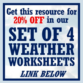 NGSS Weather & Weather Maps Review Worksheet w/Keys - Middle School MS-ESS2-5