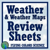 NGSS Weather Worksheet Review with Weather Maps Middle School